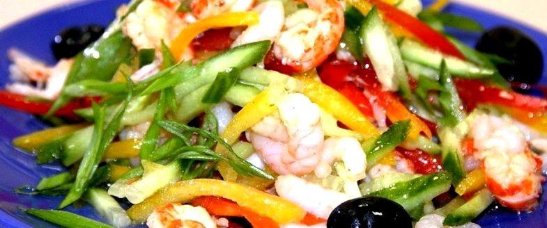 Диетические рецепты салатов из овощей с