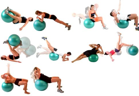 Фитбол для похудения удержать равновесие