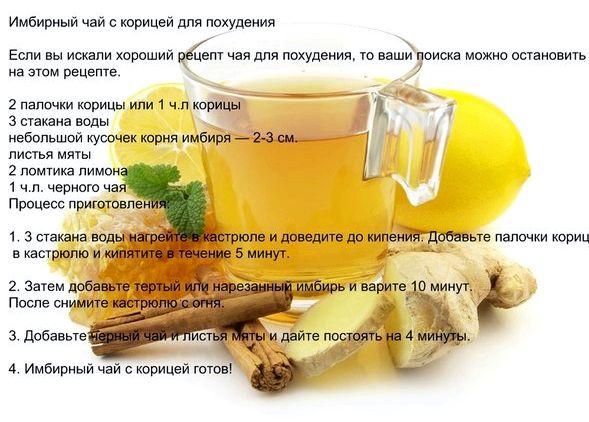 Как пить чай с имбирем чтобы похудеть отзывы
