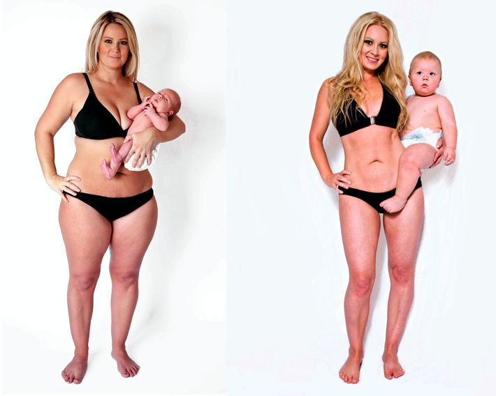 Как убрать живот после родов в домашних сбросила вес, так