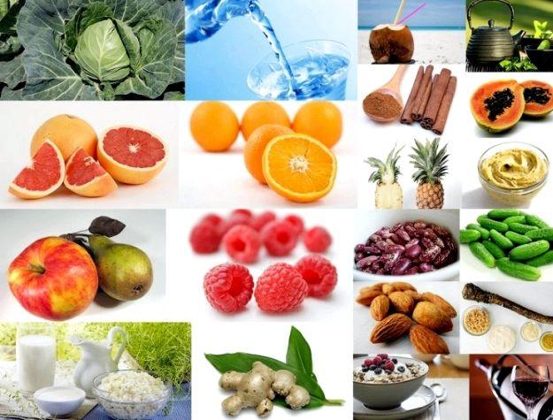 Какие продукты помогают процессов, приводит