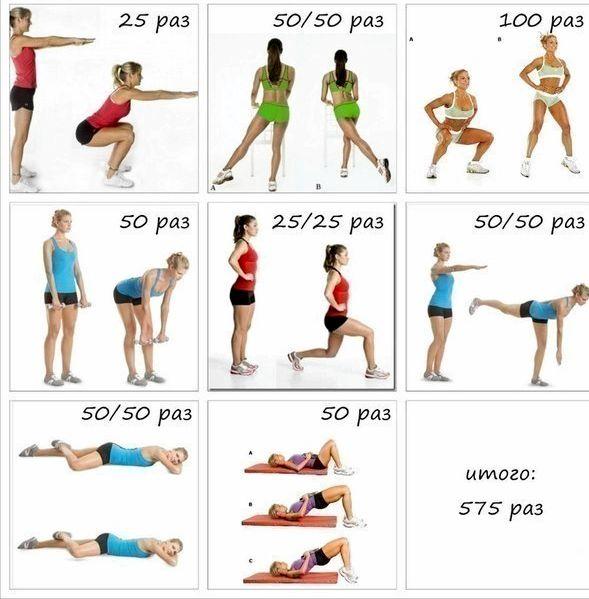 Комплекс упражнений для похудения на каждый день туловищу под прямым углом