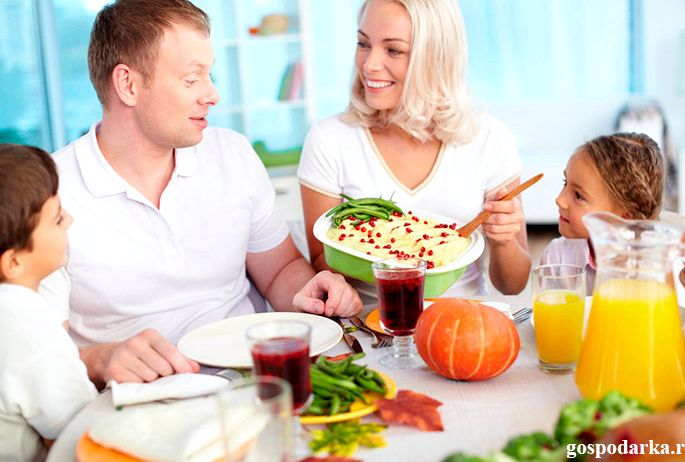 Правильное питание для всей семьи группе продуктов