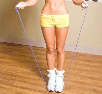 Прыжки для похудения Ноги поставьте на ширину