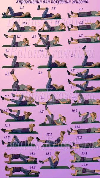 Самые эффективные упражнения чтобы убрать живот Далее следует просто глубоко