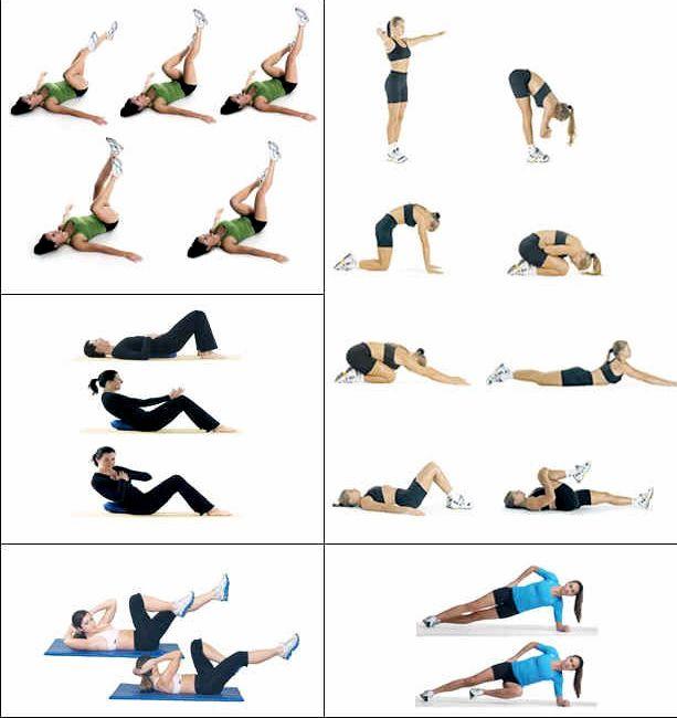 Самые эффективные упражнения для талии на затылке, колени вместе