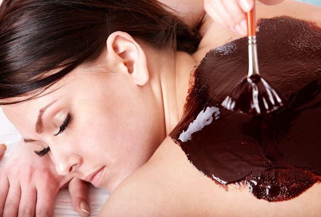 Шоколадное обертывание в домашних условиях для похудения Разогретую на водяной бане смесь
