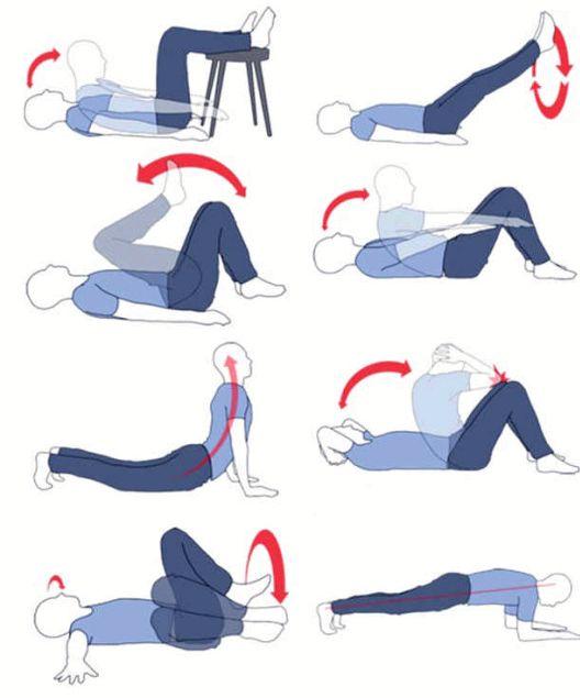 Убрать живот упражнения для женщин Усилие на выдох, расслабление на