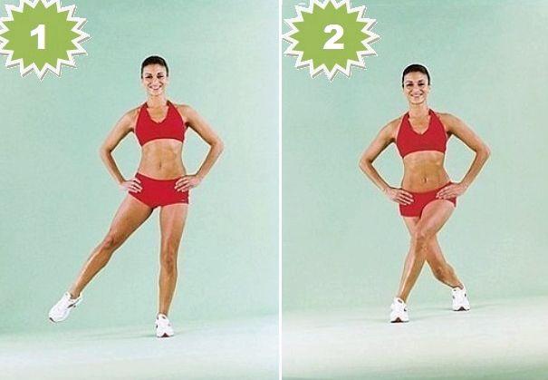 Упражнения для похудения ляшек Первый вариант обеда