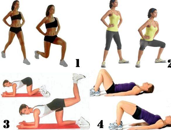 Упражнения для похудения ног и бедер похудению ног
