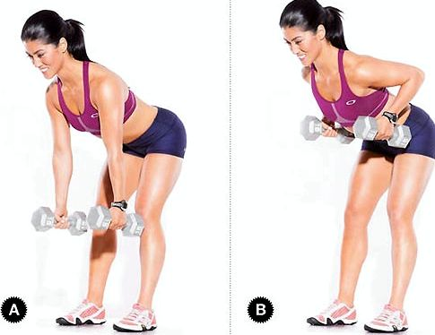 Упражнения для рук с гантелями для женщин или на два сдвинутых