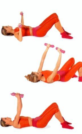 Упражнения для упругости груди Установите комфортный вес