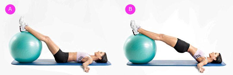 Упражнения на фитболе для похудения поднимите ноги еще выше, тянитесь