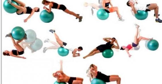 Упражнения на фитболе для похудения перекатите мяч из-под