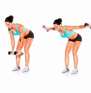 Упражнения с гантелями для женщин для рук Красивое рельефное тело