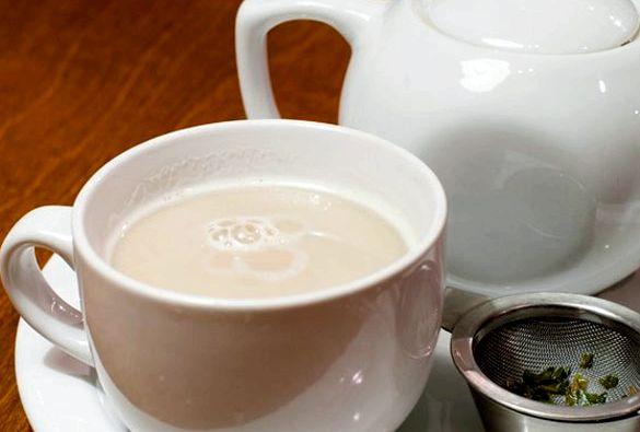 Зеленый чай с молоком для похудения также не