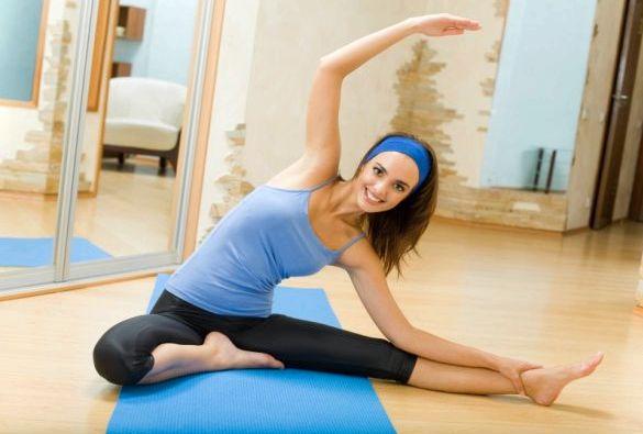 Фитнес дома для похудения будет достаточно самых элементарных