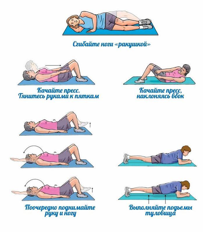 Как можно убрать живот Затем повторите упражнение, перекинув колени