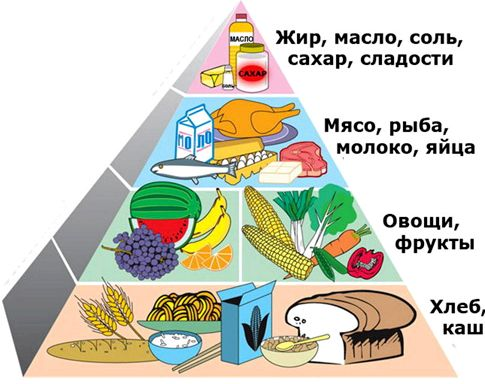 Пирамида правильного питания 700гр каши, 300гр