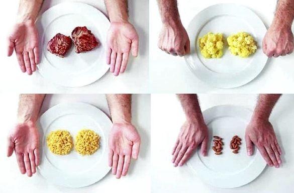 Порции при правильном питании получаются значительно короче