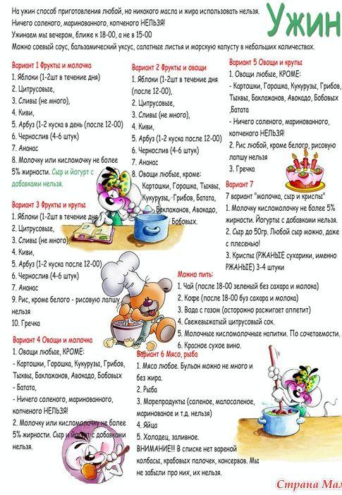 Правильное питание минус 60 На системе минус 60 можно