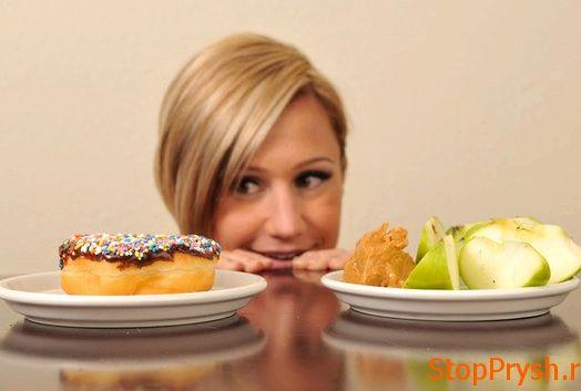 Правильное питание от прыщей случае неполного отказа от жирной