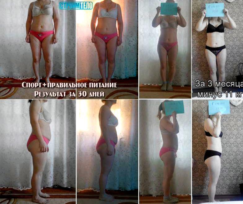 Правильное питание результат похудения