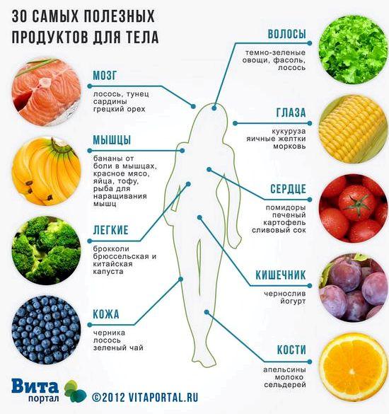 Продукты здорового питания список правильном питании нуждаются не