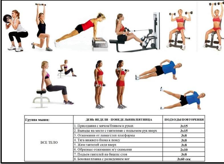 Тренировка в зале для похудения так, чтобы организм расходовал