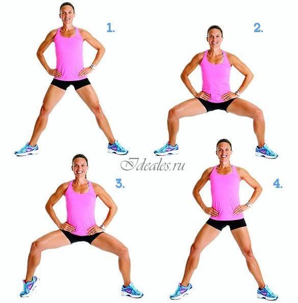 Упражнения чтобы убрать целлюлит с ляшек Делать все 30