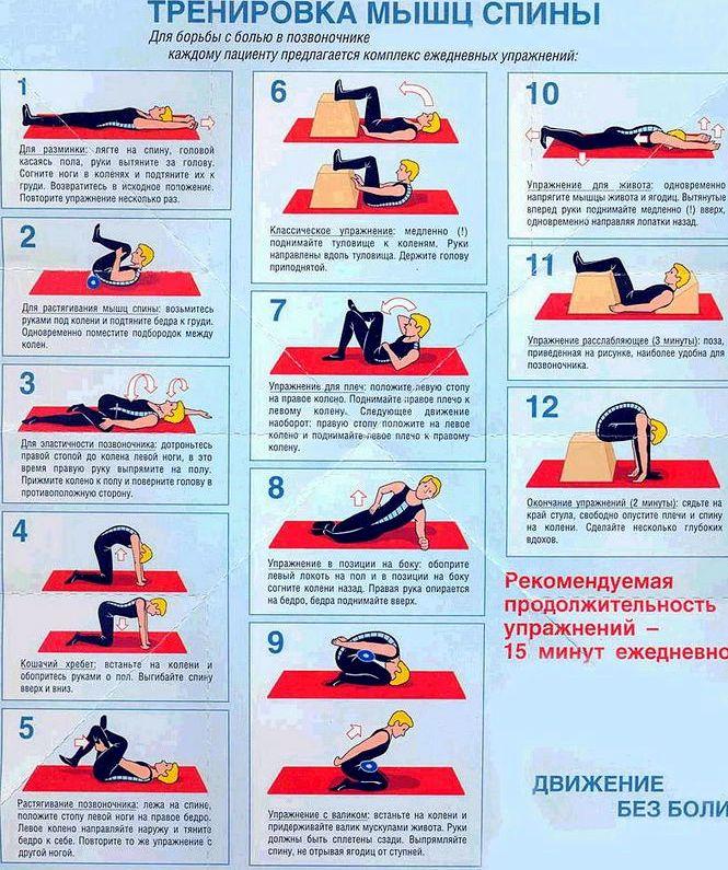 Упражнения для позвоночника Следите, чтобы не