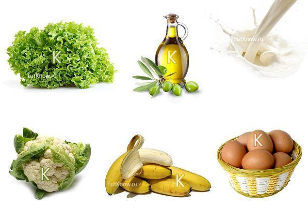 Витамин к в каких продуктах содержится каких продуктах содержится